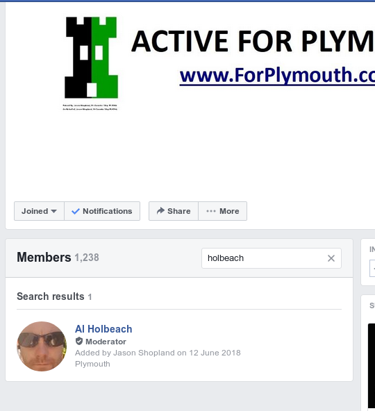 Fascist Front Group 'Active for Plymouth'